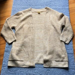 Oatmeal Cardigan with Pockets